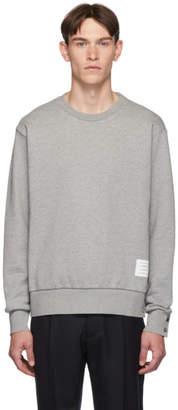 Thom Browne Grey RWB Stripe Sweatshirt