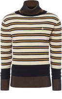 Turtleneck Jumper Cream/Stripe Size L