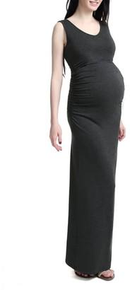 Kimi and Kai Jane V-Neck Maternity Maxi Dress