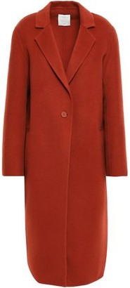 Sandro Wool And Cotton-blend Felt Coat