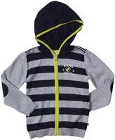 Petit Lem Space Boy Striped Hoodie (Toddler/Kid) - Gray-2/3