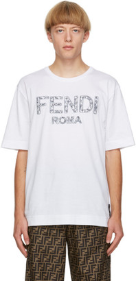 Fendi White Roma T-Shirt