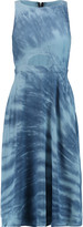 Kain Label Quinn tie-dye cutout crepe midi dress