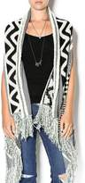 Double Zero Sleeveless Open Cardigan