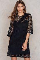 Boohoo Fishnet T-Shirt Dress