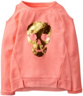 Crazy 8 Skull Cold-Shoulder Pullover