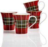 222 Fifth Wexford Plaid 4-Pc. Mug Set