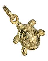 Fashion World 9 Carat Yellow Gold Turtle Charm