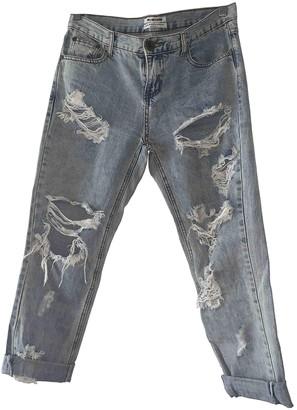 One Teaspoon Blue Cotton Jeans for Women