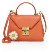 Mark Cross Hadley Baby Daisy Leather Satchel