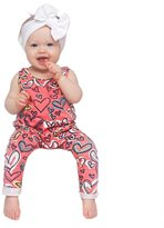 2017 Charberry Baby Girl Cotton Plaid Romper Jumpsuit+Headband Outfit Set
