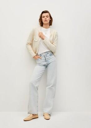 MANGO Cotton tweed cardigan