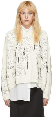 McQ Off-White Swallow Sweater