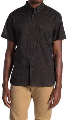Billy Reid Tuscumbia Abstract Print Short Sleeve Slim Fit Cotton Shirt