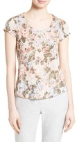 Rebecca Taylor Women's Penelope Floral Jersey Tee