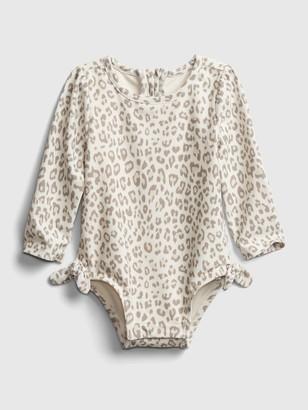 Gap Baby Leopard Print Swim One-Piece