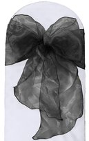 LA Linen 10-Pack Organza Sashes Chair Bows