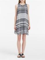 Calvin Klein Printed Inverted Pleat Dress