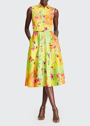 Ralph Lauren Darcy Sleeveless Floral-Print Shirtdress