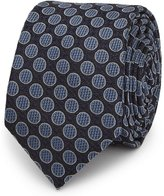 Reiss Reiss Ernest - Dotted Silk Tie In Blue