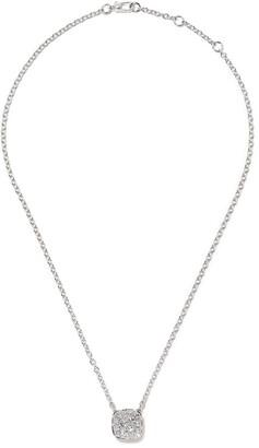 Pomellato 18kt white gold Nudo diamond pendant necklace