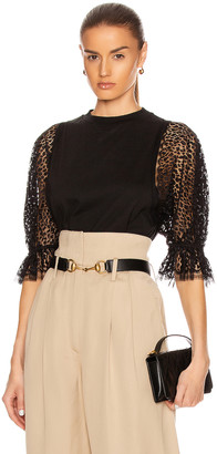 Givenchy Lace Sleeves Top in Black | FWRD