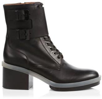 Clergerie Eden Leather Combat Boots