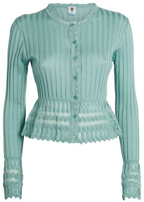 M Missoni Cropped Ruffle-Detail Cardigan