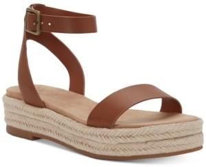 INC International Concepts Inc Women's Valetta Woven Flatform Espadrilles, Created for Macy's Women's Shoes