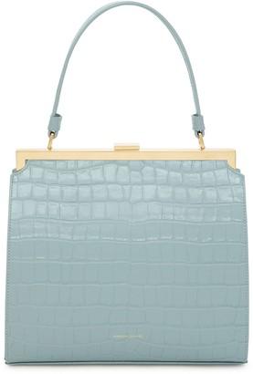 Mansur Gavriel Elegant Bag - Light Blue Embossed Croc