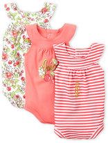 juicy couture (Newborn Girls) 3-Pack Sunsuit Bodysuits