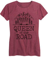 Instant Message Women's Women's Tee Shirts HEATHER - Heather Wine 'Queen Of The Road' Relaxed-Fit Tee - Women