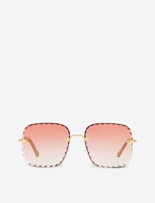 Chloé CE161S 823 59 Rosie square-framed metal and polycarbonate sunglasses