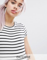 Monki Stripe Short Sleeve T-Shirt