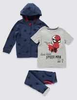 Marks and Spencer 3 Piece Spider-ManTM Hoodie Outfit (1-8 Years)