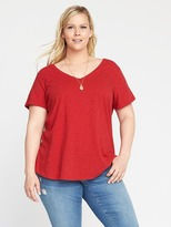 Old Navy EveryWear Relaxed Plus-Size V-Neck Tee