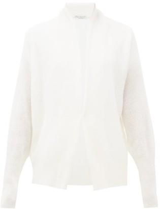 Brunello Cucinelli Ribbed Fine-knit Cardigan - Womens - White