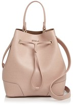 Furla Stacy Drawstring Small Leather Tote