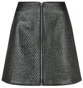 Maje Juna Embossed Vinyl Zip Skirt