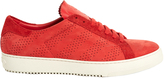 Off-White Perforated low-top nubuck-leather trainers