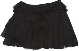 Nina Ricci Black Silk Skirt for Women