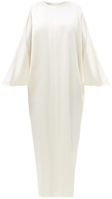 LA COLLECTION Epione Silk-charmeuse Maxi Dress - Ivory
