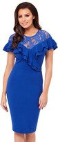 Jessica Wright Frill Lace Midi Dress