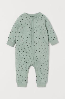 H&M Cotton Jersey Pajamas - Green