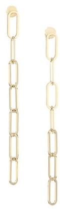 Jennifer Zeuner Jewelry McKeena 18K Yellow Gold Vermeil Chain Drop Earrings
