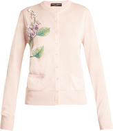 Dolce & Gabbana Hydrangea-embroidered cashmere-blend knit cardigan