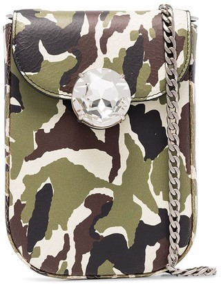 Miu Miu Bandoliera camouflage-print bag