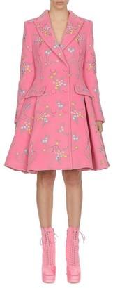 Moschino Flowers Of Versailles Angora & Wool Pleated Jacket
