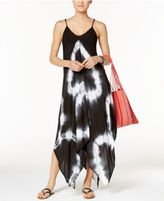 Raviya Tie-Dye Handkerchief Maxi Dress Cover-Up