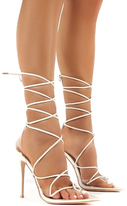 Public Desire Carmen and Perspex Lace Up Stiletto High Heels
